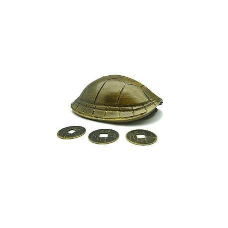 Bronzen Schildpad Schild (met Muntstukken)
