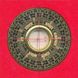 Zhong He Luo Pan - Mini Feng Shui Compass with 24 Mountains (8.5 cm)