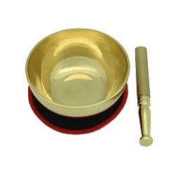Space Clearing Singing Bowl Set with Metal Mallet, Fortune Bell and Tai Chi Plate