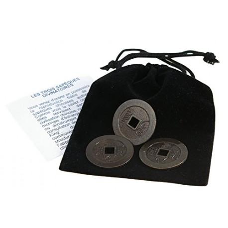 Les 3 sapeques du yi-king (Yi Jing, I Ching)