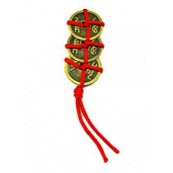 Ang Pow Muntstukken (3 Munstukken met Rood Koord)