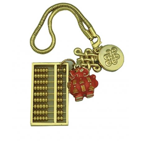 Pi Yao Pendant on Abacus Amulet
