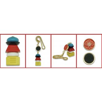 Amulet Pagode der 5 Elementen